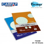 CAMPAP Premium A4 Graph Paper Pack 70gsm  (1mm & 2MM Grid Square)
