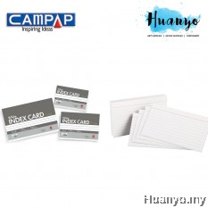 "Campap White Index Card 3"" X 5"" Inches (160GSM, 100 Sheets/Pack)"