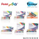 Pentel Arts Oil Pastels Colour (Set of 12 / 16 / 25 / 36 / 50 Pastel Color)