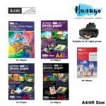 KAMI  A4 / 4R Size Inkjet Glossy Photo Paper (135gsm / 180gsm / 200gsm / 230gsm) [A4/20 sheets pack, 4R/50sheets pack ]