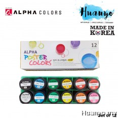 Alpha Poster Colour (Set of 12 Colors, 15ML Bottle)
