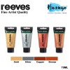Reeves Fine Artist Quality Series Metallic Acrylic Colour Paint (75ML) [Per Tube]