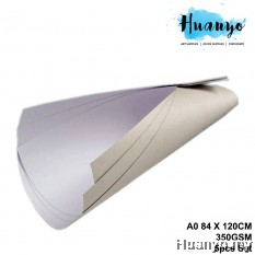 Single Side Coated Box Board A0 Size 84 X 120CM, 350GSM (Front White,Back Grey) [5 Pcs Set]