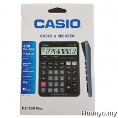Casio DJ-120D Plus Check & Recheck Calculator