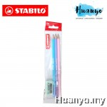 Stabilo Back to School 2B Pencil and Eraser Pack (Pastel Series)