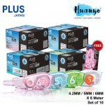 PLUS Whiper MR 2 Correction Tape Cartridge Refill (Set of 10 Refills) [FREE Correction Tape x 1] [4.2MM / 5MM / 6MM]