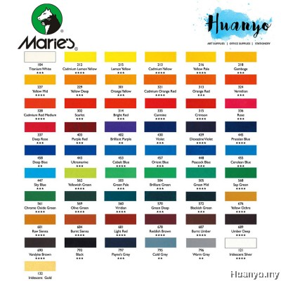 Marie's Acrylic Colour Paint 500ML No. A4500 (Per Bottle)