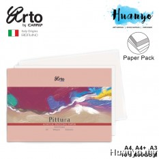 Campap Arto Fabriano Pittura Acrylic Painting Paper Pack 400GSM (A4 / A4+ /A3, Cold Pressed)