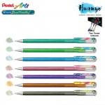 [New 7 Colours] Pentel Hybrid Dual Metallic Glitter Colour Gel Pen 1.0MM (Per Pcs / Set of 7)