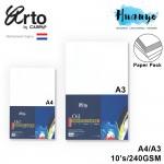 Campap Arto Netherland Oil Colour Paint Painting Canvas Texture Paper A4/A3 (240gsm/10's ,100% Cellolose)