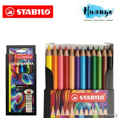 [Free Gift Limited Edition 12 Pastel Colour] Stabilo Swans Arty Artist Grade Colour Pencil (Color Set of 12 / 24 / 36 / 48)