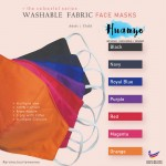 Colour Series Reusable Washable 3 Layer Fabric Face Mask 2.0 (Adult & Kid Size | Skin Friendly Material | Breathable / Breath Easier)