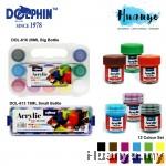 Dolphin Acrylic Colour Plastic Box Set of 12 (20ML / 15ML)