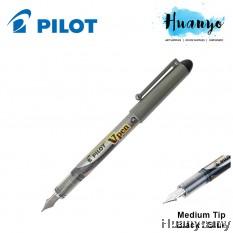 Pilot V - Pen Fountain Pen SVP-4M (Medium Point, Black / Blue Ink)