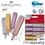 Faber-Castell Textliner 46 Metallic Glitter Colour Highlighter (Per PCS / Wallet Set of 4)