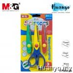 M&G Kids Creative Art Pattern Scissors (3 Cut Patterns)