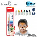 Faber-Castell Face & Body Paint Crayon Colour (Set of 6)
