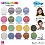 Snazaroo Non Toxic Face & Body Paint (Metallic & Sparkle Colour, 18ML)