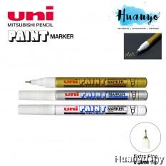 Uni Paint Marker PX 203 - 0.8MM Extra Fine Tip (Per Pcs, Gold / Silver / White)