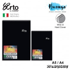 Campap Arto Fabriano Wire O Hard Cover Mixed Media Portrait Sketch Book (A5 / A4, 250gsm, 30 Sheets)