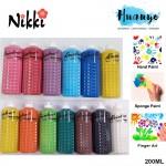 Nikki Rainbow Non Toxic Tempera Paste Colour Paint (200ML, Per Bottle) - [Hand Paint /Palm Art]