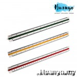 High Precision Technical Drawing Triangular Scale Ruler 30cm (1:20 1:25 1:50 1: 75 1:100 1:125)