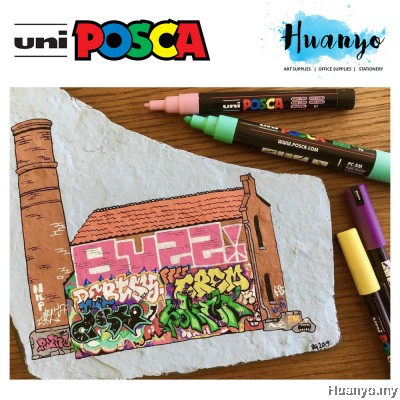 Uni Posca Water-Based Poster Colour Paint Marker PC-5M (Set of 8 / 15)