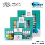 Winsor & Newton Fine Artist Acrylic Colour Paint (Color Set of 12 / 18 / 24, 10ML / Tube)