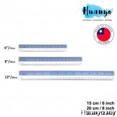 Sanko Star High Quality PVC Flexible Plastic Straight Ruler With CM & Inch Measurement (15CM/6'' , 20CM/8'', 30CM/12'')