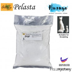 Pelasta POP Plaster of Paris / Gypsum plaster Sculpture Modeling Art Clay - 1 KG / Pack