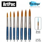 Artpac Artist Nylon Brush 818 - Round Tip [Muslim Friendly] (Per PCS, No. 6/7/8/9/10/11/12) [List 2/2]
