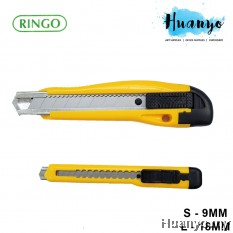 Ringo Razor Blade Utility Knife Cutter (S - 9MM / L - 18MM, Yellow Colour)