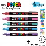 [Metallic Colour] Uni Posca Water-Based Poster Colour Bullet Medium Tip Paint Marker PC-5M (Per Pcs, List 2/2)