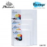 Phoenix Artist Stretch White Cotton Canvas For Oil Acrylic Painting (Medium Grain, Rectangle & Square Size) [List 1/2]
