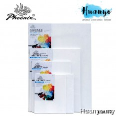 Phoenix Artist Stretched White Cotton Canvas For Oil Acrylic Painting (Medium Grain, Rectangle & Square Size) [List 1/2]