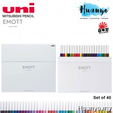 Uni Emott Fineliner Colour Sign Pen 0.4MM (Set of 40)