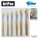Artpac Artist Hog Bristle Painting Stencil Brush (Non Halal) [No. 1, 2, 3, 4, 5, 6, Per PCS]
