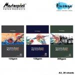 Masterprint Art Drawing Paper Block (A3 Size - 20 Sheets ) [135GSM / 165GSM / 200GSM]