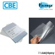 CBE Clear Rigid PVC Plastic Sheet 10's/Pack