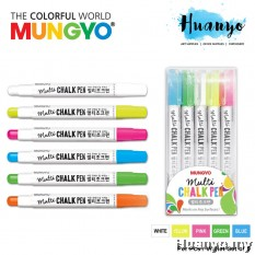 Mungyo Multi Surface Colour Chalk Pen ( Per pcs / Wallet Set of 5)