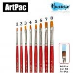Artpac Artist Nylon Brush 448 - Flat Tip [Muslim Friendly] (Per PCS, No.1/2/3/4/5/6/7/8) [List1/2]