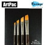 Artpac Artist Nylon Brush 468 - Angled Tip [Muslim Friendly] (Per PCS, No.6/10/14/18)