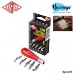 ESSDEE Lino Printing Cutters & Handle Set of 5