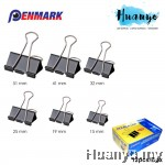Penmark Metal Double Binder Clip (51MM,41MM,32MM,25MM,19MM,15MM) [12pcs/ BOX]