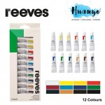 Reeves Acrylic Colour Paint (Set of 12)
