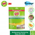 3M Scotch Brite 4 in 1 Anti Bacterial Multipurpose Disinfect Wipes Refill Pack (85's/pack) [Clean, Disinfect, Deodorizes, Degrease, Refillable]