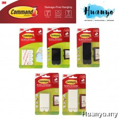 3M Command Picture Poster Canvas Wall Hanging Frame Tape Strip (Per Pack, No Tools Required, Hold up to 5.4kg / 7.2kg)
