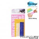 Alphabet Number Letter Combo Writing Stencil Ruler Set of 4 (Random Colour)