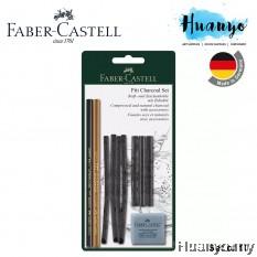 Faber Castell Artist Pitt Natural Charcoal Stick & Pencil Set of 10
