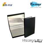 EMI PP Cover A5 Clear Book Holder File 20's (Black Colour, Potrait Layout) [Artwork / Photo / Art Diary Album]